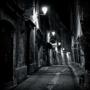 courtesy http://www.redbubble.com/people/n1k0/works/4466978-dark-street-montpellier-france-2009