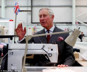 courtesy http://www.dailymail.co.uk/news/article-2282995/Prince-Charles-tries-hand-using-sewing-machine-visit-favourite-clothing-makers-factory.html