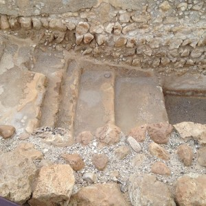 Steps down to a ritual bath at Qumran.