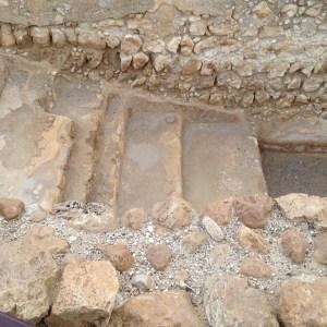 Steps down to a ritual bath at Qumran.